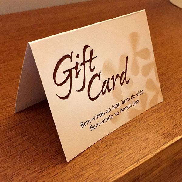 Gift Card Amadí Spa - Vale-presente
