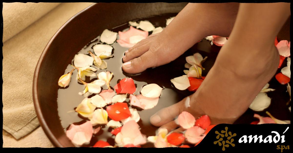 Seus pés merecem todo o cuidado do mundo - Escalda-pés no Amadí Spa - Moema